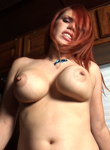 Hot fiery redhead fucking long hard dick